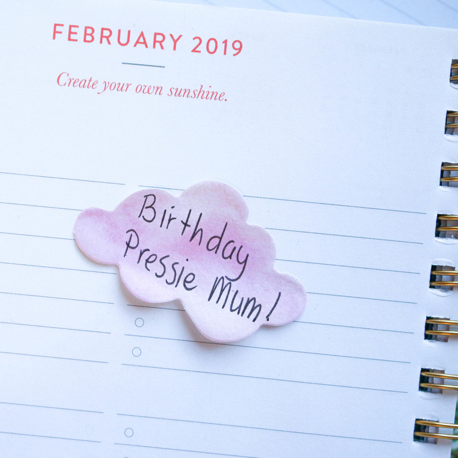 Pink cloud Sticky notes