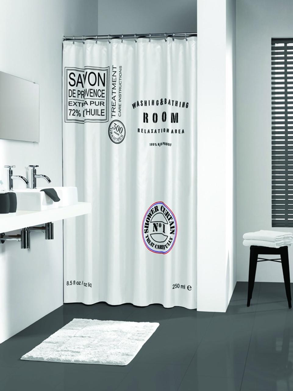 Shower Curtain Sealskin Savon De Provence White