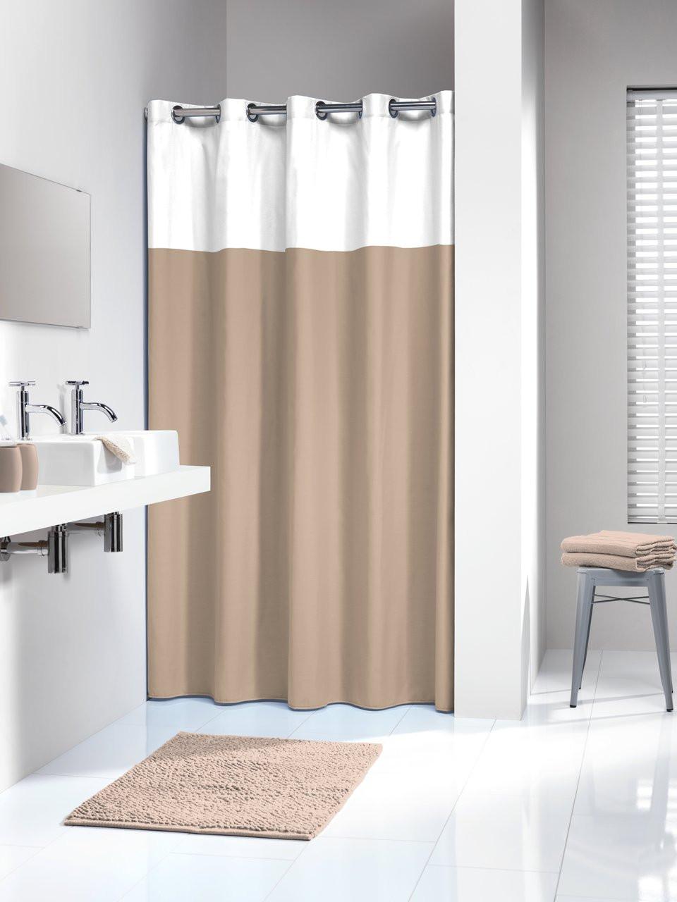 Shower Curtain Sealskin Doppio Taupe