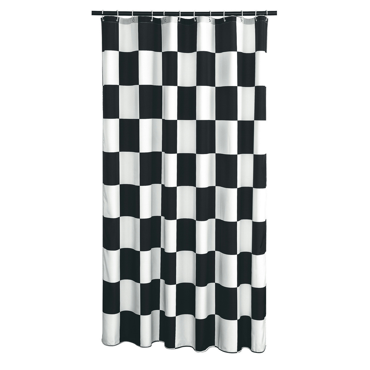 Extra Long Shower Curtain 72 X 78 Inch Gamma Checkered Flag