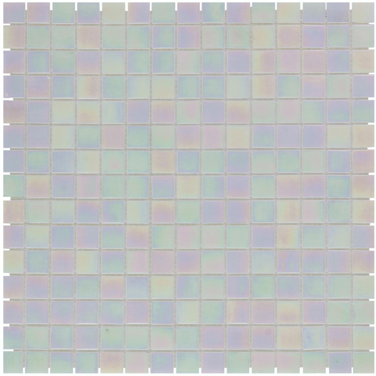 Sample Quartz Glass Mosaic Tile Sheet Amsterdam Off White Pearl
