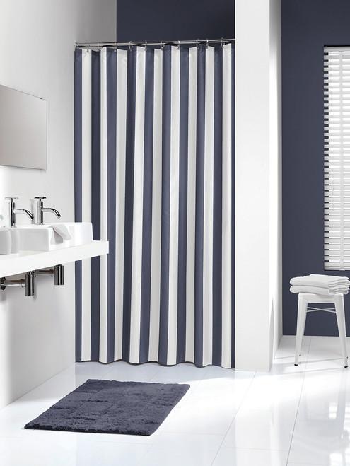 Extra Long Shower Curtain 72 X 78 Inch Sealskin Linje Blue