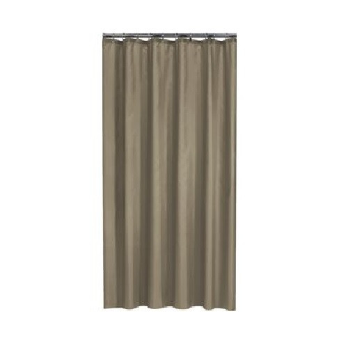 Extra Long Shower Curtain 72 X 78 Inch Gamma Walnut Brown Fabric