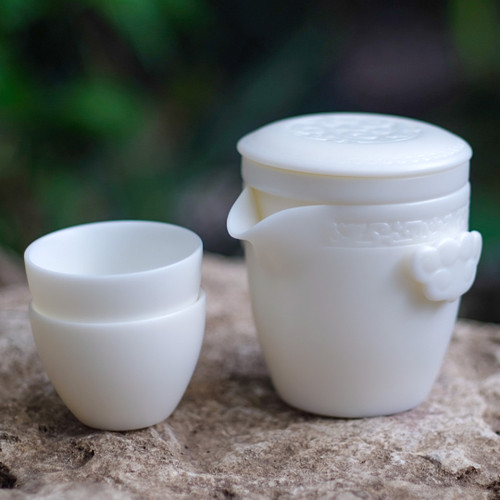 Mutton Fat Jade Porcelain Travel Set