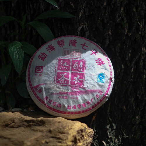 357g 2009 Cloud Burst Shu Pu'er Bing 豪雨熟茶餅