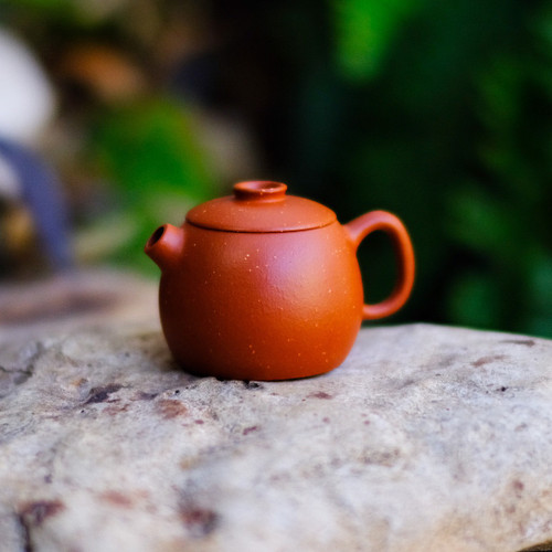 Fat Wheel Pearl Yixing Gold Sand Crimson Clay Teapot 胖輪珠宜興金沙朱泥茶壺