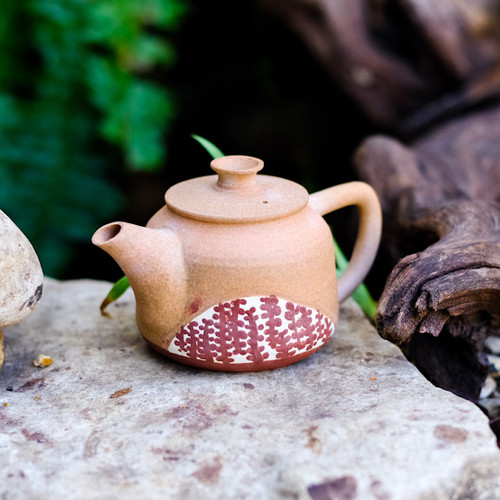 Unglazed Pyramid and Vine Dai Teapot
