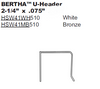 "Bertha 2.25"" U Header"