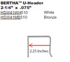 "2.25"" BERTHA ""U"" Header (Code Approved)"