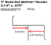 2.25 inch Bertha H-Header  with 3 inch build-out