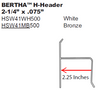 "2.25"" Bertha H-Header"