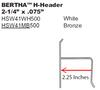 "2.25"" Bertha H-Header"