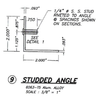 studded angle dimensions
