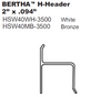 Bertha H Header with no build out