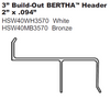 Bertha H Header with 3 inch build out
