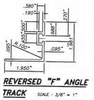 reverse flat track F track angle window sill ground