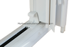 Hold-back clips for accordion storm shutters