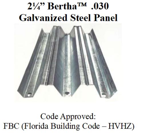 "2¼"" .030 BERTHA Galvanized Steel Panel"