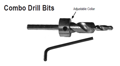 Combo Drill Bit for hurricane anchors