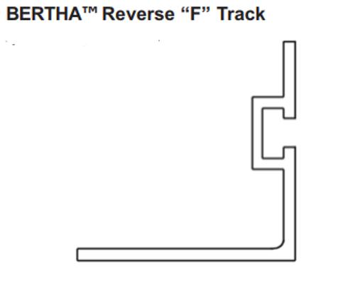 reverse F track flat track angle window sill ground