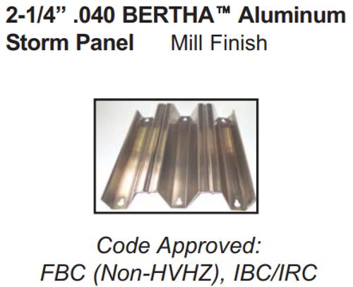 "2¼"" .040 BERTHA Aluminum Hurricane Shutter  Bertha  aluminum Storm Panel Lowes aluminum Hurricane Shutters Bertha Hurricane Shutters"