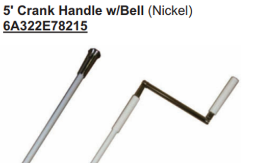 5 Foot Crank Handle with Bell 6A322E78215