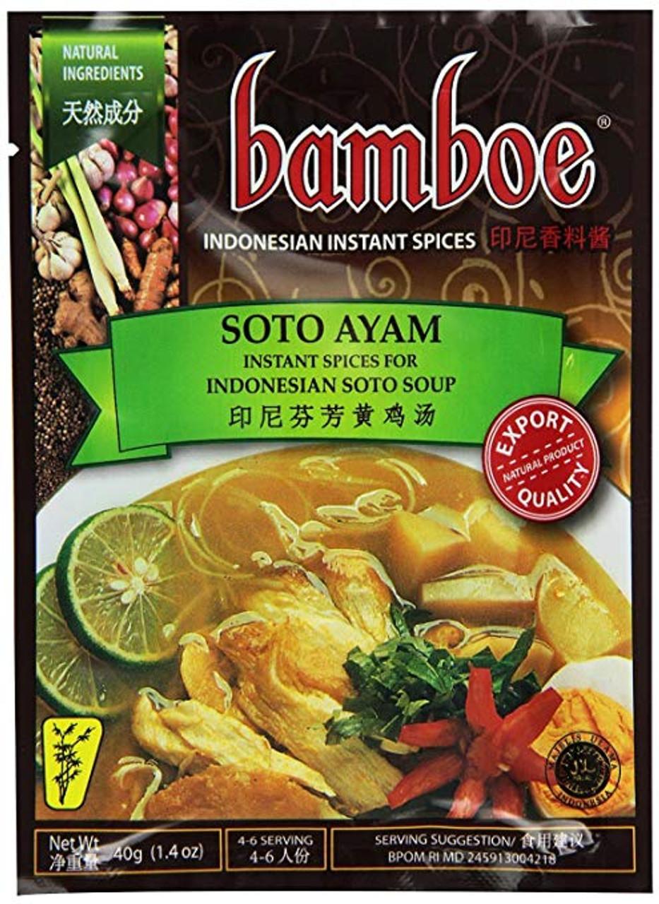 Bamboe Soto Ayam (Yellow Chicken Soup Seasoning) - 1 4oz