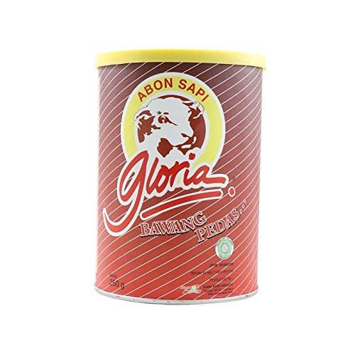 Gloria Abon Sapi Bawang Pedas - Chilli Onion Beef Floss, 250 Gram
