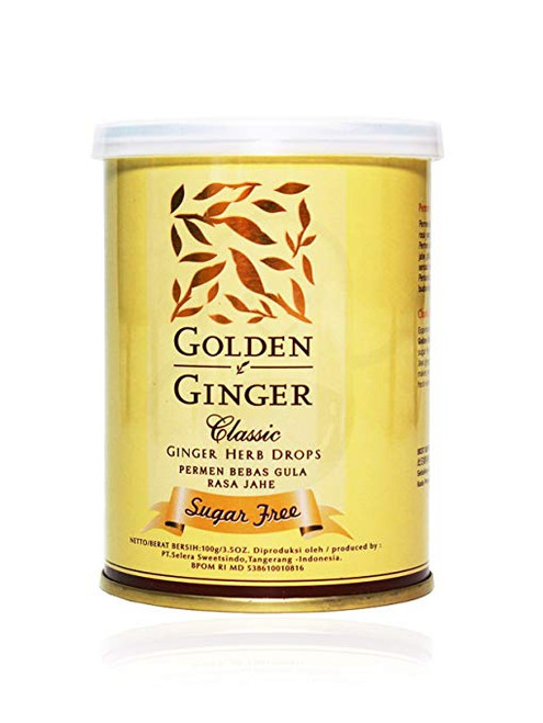 Sunny Ville Golden Ginger Herb Drops Classic (sugar free), 100 Gram / 3.5 Oz