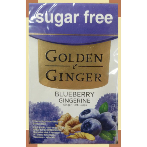 Golden Ginger Herb Drops Blueberry Gingerine (sugar free), 45 Gram