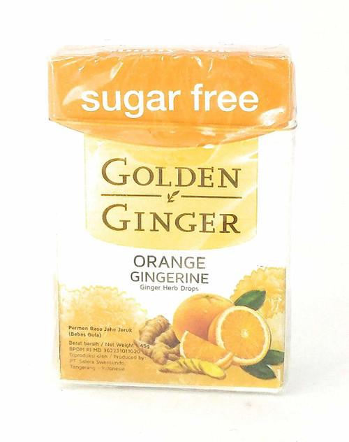 Golden Ginger Herb Drops Orange Gingerine (sugar free), 45 Gram