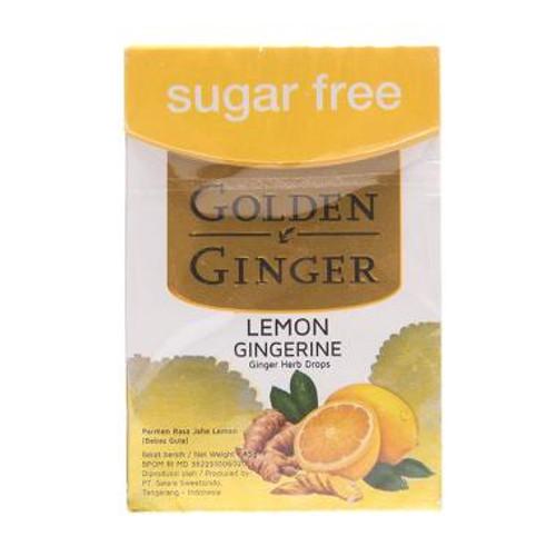 Golden Ginger Herb Drops Lemon Gingerine (sugar free), 45 Gram