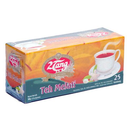 2tang Teh Melati Jasmine Tea Bags 50 Gram - 25-ct 2gr