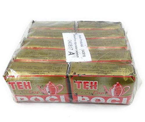 Teh Cap Poci Mas - Poci Gold Green Tea Jasmine Loose, 100 Gram