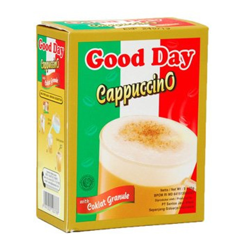 Good Day Cappuccino with Chocolate Granule Instant Coffee Box 125 Gram (4.40 Oz) 5-ct @ 25 Gram