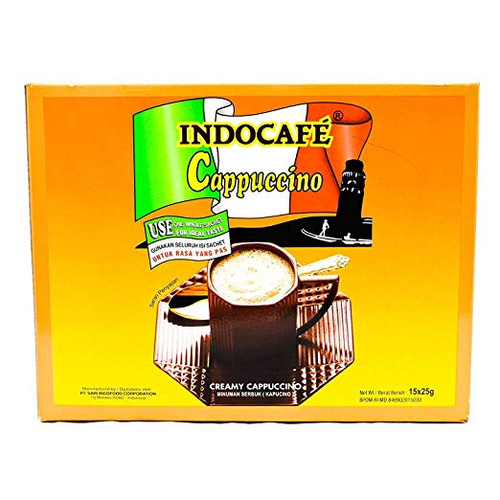 Indocafe Cappuccino Instant Coffee 15-ct, 375 Gram