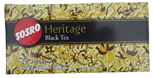 Indonesian Sosro Heritage Black Tea - 25 Teabags Per Box