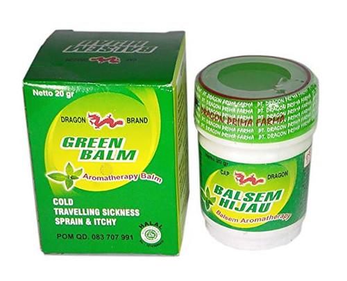 Cap Dragon Balsem Gosok Hijau Green Balm, 20 Gram