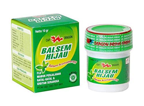 Dragon Balsem Gosok Hijau Green Balm, 10 Gram