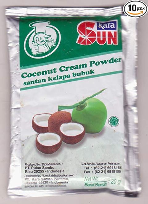 Sun Kara Santan Kelapa Bubuk - Coconut Cream Powder, 20 Gram/0.7 O