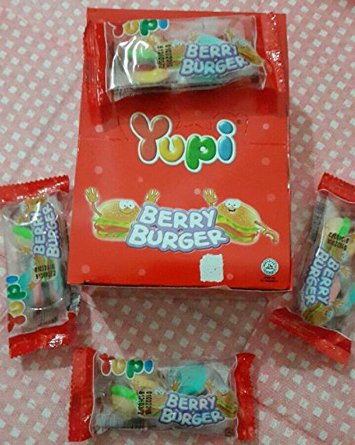 Yupi Gummy Candy Berry Burger 24-ct (1 Box)