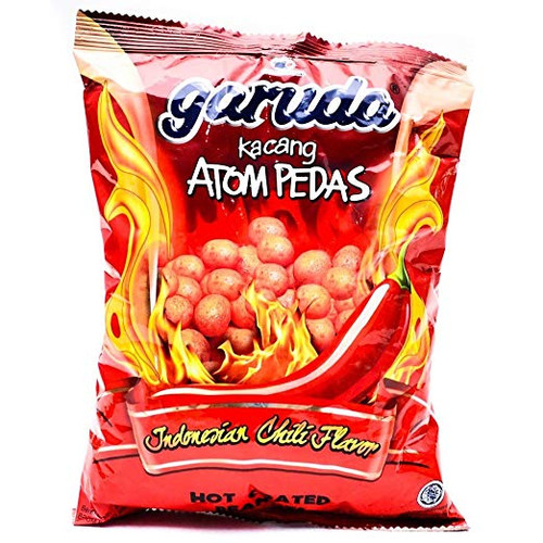 Garuda Kacang Atom Pedas - Spicy Coated Peanuts , 8.81 Oz