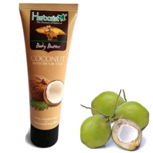 Herborist Body Butter COCONUT Tube 80 gram  - Indonesian