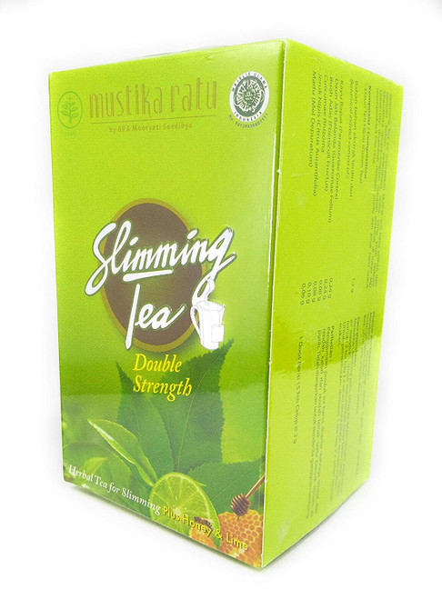 Mustika Ratu Slimming Tea Double Strength Plus Honey and Lime 15-ct, 30 Gram