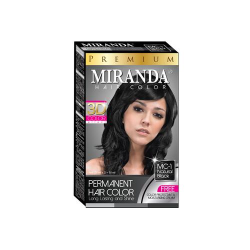 Miranda Hair Color Natural Black (MC-1) 60ml