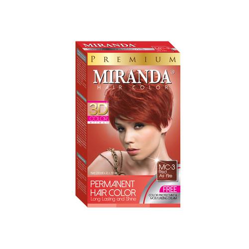 Miranda Hair Color Red As Fire MC-3 (30ml + 30gr)