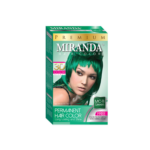 Miranda Hair Color Green MC-11 (30ml +30gr)
