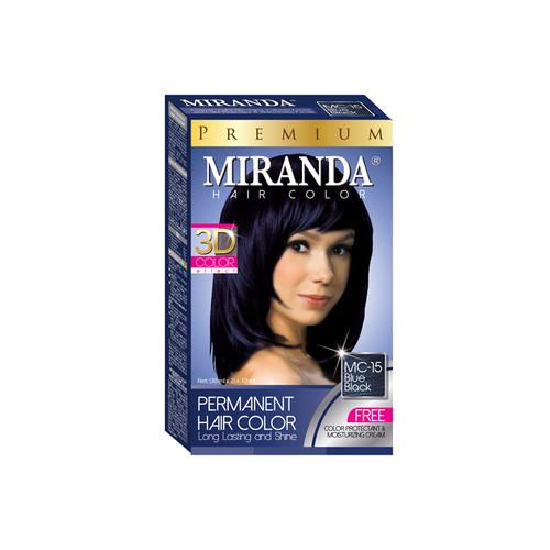 Miranda Hair Color Blue Black MC-15 (30ml + 30gr)
