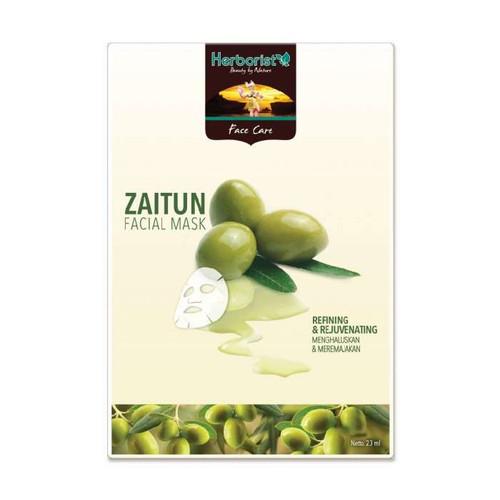 Herborist Olive Facial Mask - Face Care Masker Wajah Zaitun 80gr