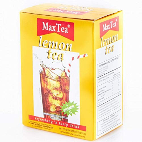 Max Tea Teh Lemon Tea 5-ct, 125 Gram